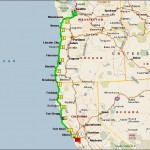 bicycling the Pacific Coast, biking and camping map
